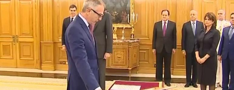 José Guirao, ministro de Cultura promete su cargo ante el Rey